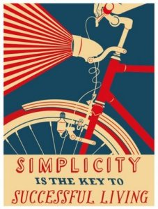 Simplicity is the Key to Successful Living; Artwork by Nick Dewar