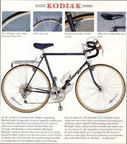 Raleigh Touring Catalog, 1984