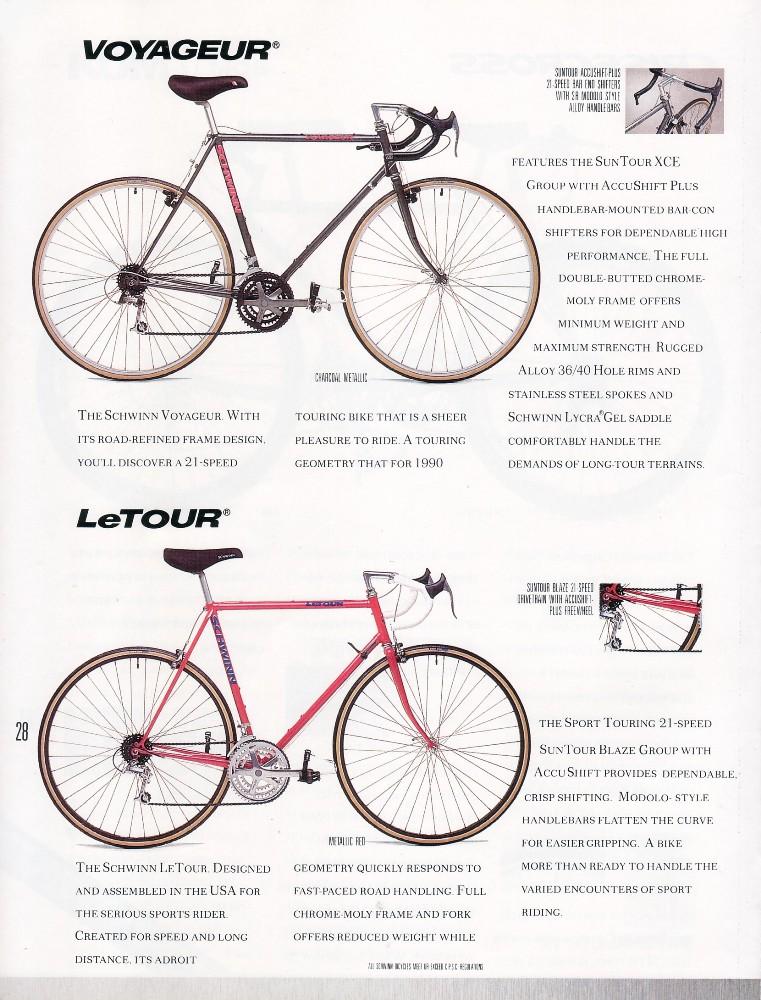 1990 Schwinn Product Catalog: Voyageur